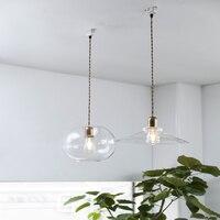 Moderne led e27 anhänger lichter glas lampe leuchte vintage loft anhänger lampe glas lampenschirm hängen lampe licht für bar restaurant|Pendelleuchten|   -