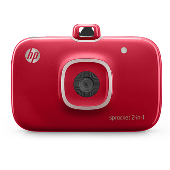 HP Sprocket 2-in-1 Portable Photo Printer & Instant Camera for 5*7.6cm (2x3-inch) Sticky-Backed Zink Photo Paper