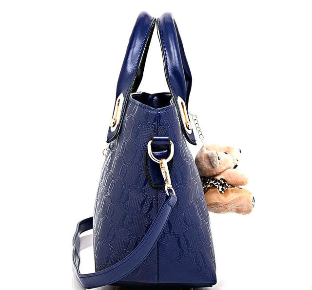 Women's 4 Set PU Leather Designer Handbags