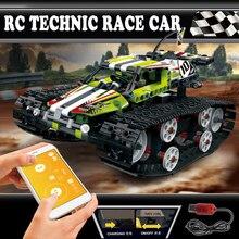 RC Military Tank Model Building Blocks Bricks Remote Control Car Compatible Legoing WW2 Technic 42065 Toys rc train model sets цена 2017