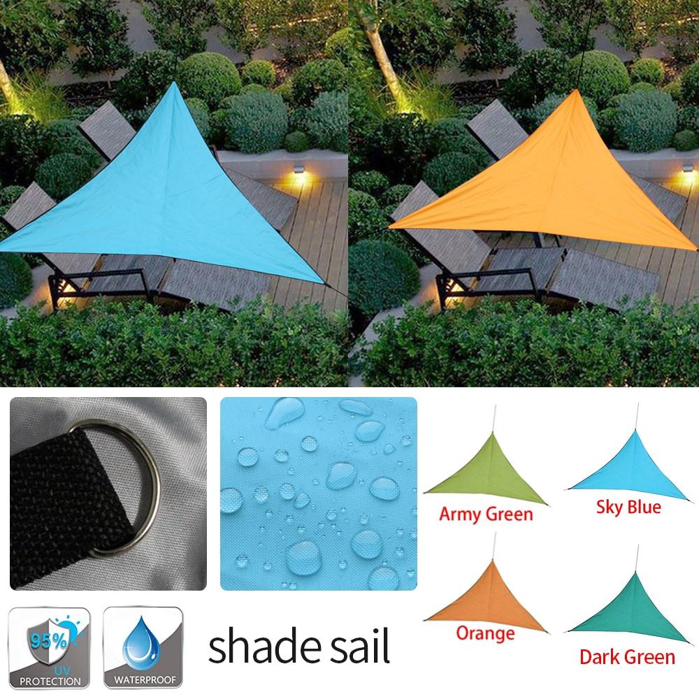 3 4m triangle sun shade sails canopy army green 3x3x3m uv block waterproof rain fly tarp