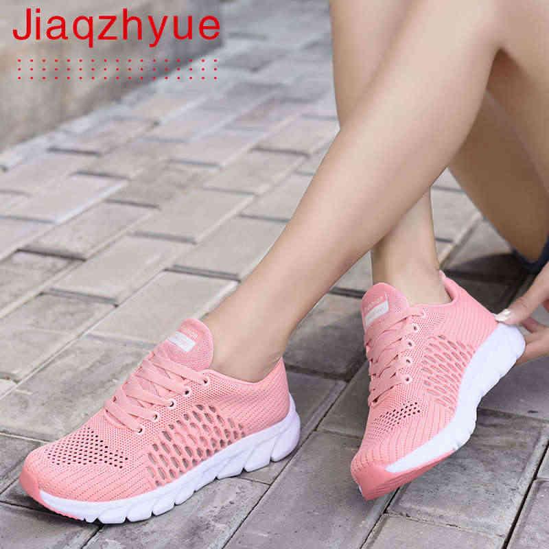 Frauen Atmungsaktive Mesh Schuhe Täglichen Beiläufige Sport Turnschuhe E4V9