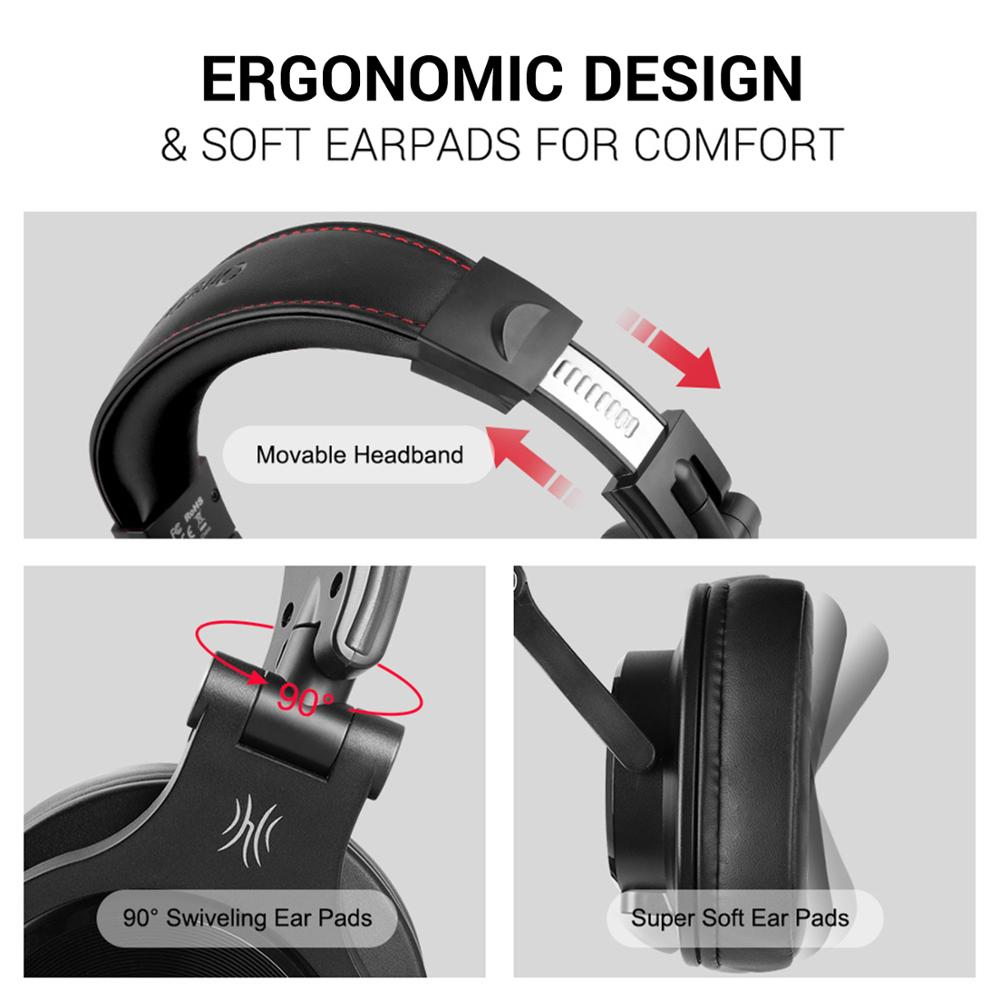 Image 4 - Oneodio A71 Professional DJ Headphones With Microphone Portable Wired Headset Music Share Lock Headphone For  MonitorHeadphone/Headset   -