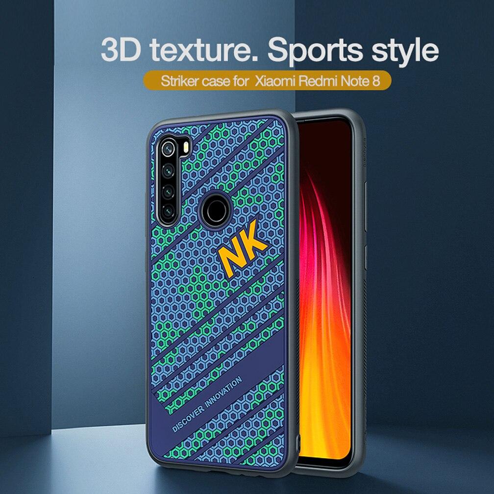 For Xiaomi Redmi Note 8 Case Cover NILLKIN Striker Case 3D Texture TPU Silicone Softness Back Cover For Xiaomi Redmi Note 8 pro|Fitted Cases| |  - title=