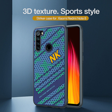 Para xiaomi redmi note 8 caso capa nillkin striker caso 3d textura tpu silicone suavidade capa traseira para xiaomi redmi note 8 pro