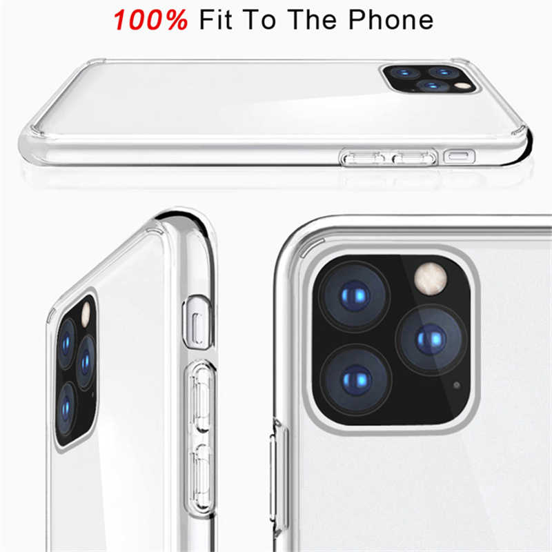 Anti Gores Akrilik untuk iPhone 11 Pro Max Transparan Shockproof DROP Protection Back Cover Fundas