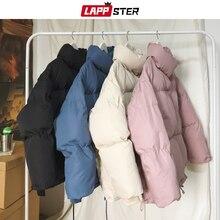 LAPPSTER, три цвета, пальто-пузырь, зимняя куртка,, мужские однотонные, стиль Харадзюку, Корейская парка, ветровка, пара, Повседневная плотная одежда