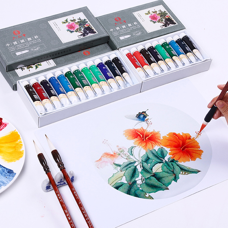 Chinese Paint 12/18/24 Colors Pigment Chinese Landscape Flowers Painting Paint Art Student Painting Drawing 5/12ml Art Supplies