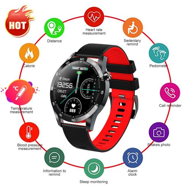F22L Smart Bracelet Smart Watch Body Temperature Breathing Training Function Blood Oximeter Sports Heart Rate Wearable Devices