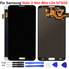 For Samsung Galaxy Note 3 Neo Mini Lite LCD OLED N750 N7502 N7505 Screen Touch LCD Display Digitizer Replacement Adjust Bright new lcd screen display with touch screen digitizer assembly replacement for samsung note 3 lite n7505 free shipping
