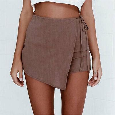 Summer Women Girl Irregular Shorts Casual Hot Slim Bottoms High Waist Shorts S-XL