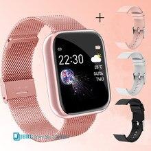 2021 Dames Sport Armband Smart Horloge Vrouwen Smartwatch Mannen Smartband Android Ios Waterdichte Fitness Tracker Smart Klok Mens