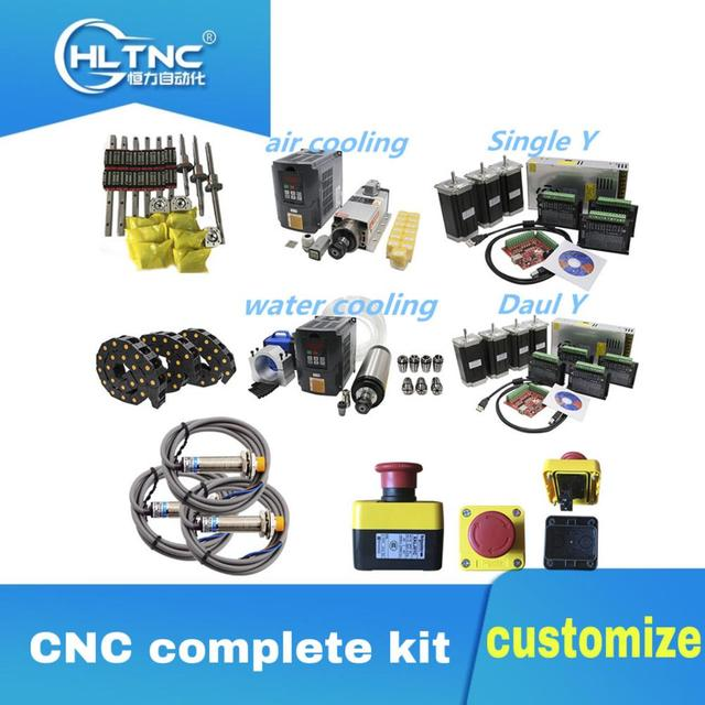 3 aixs CNC מדריך CNC ערכה מלאה ליניארי מדריך כדור בורג מנוע צעד ציר כבל שרשרת עבור cnc נתב cnc חלקי cnc modul