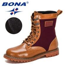Bona/Новинка 2020 года; Дизайнерские зимние сапоги до середины