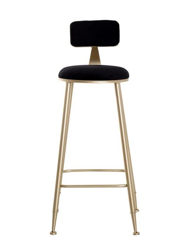 Metal Bar Stool With Backrest High Stool Net Red Restaurant  Bar Chair Milk Tea Dessert Shop High Bench Modern