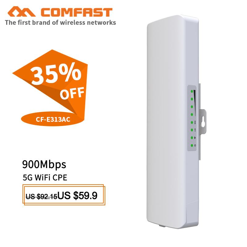 5KM 5GHz 11ac 867Mbps Outdoor CPE Wireless Router client AP WiFi Extender Access Point WiFi Bridge with POE Adapter Nanostation image