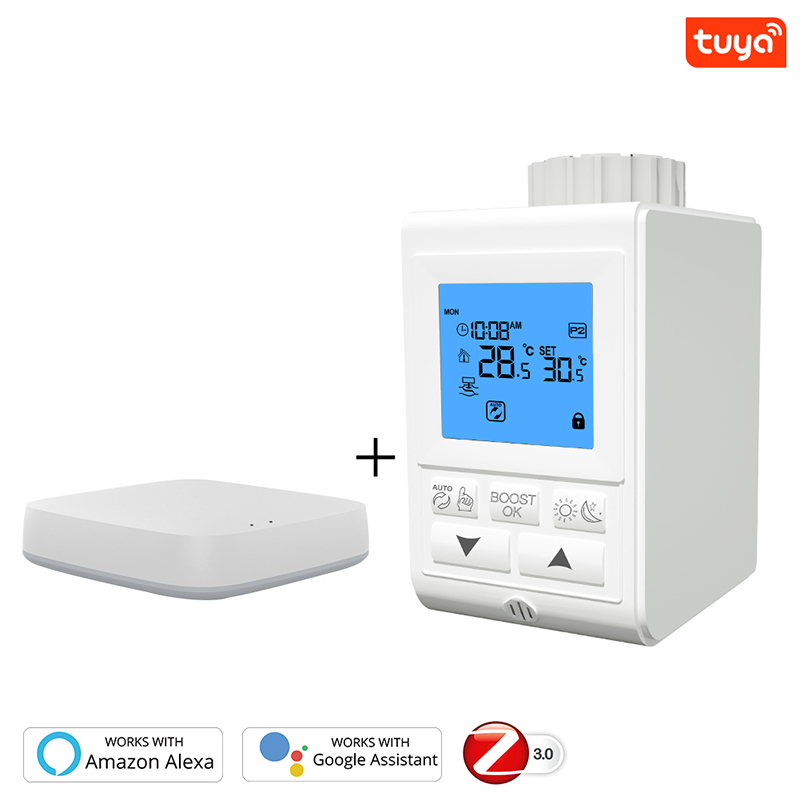 Smart TRV Thermostatic Radiator Valve Controller Zigbee 3.0 Thermostat Heater Temperature Voice Control Work Alexa Google Home