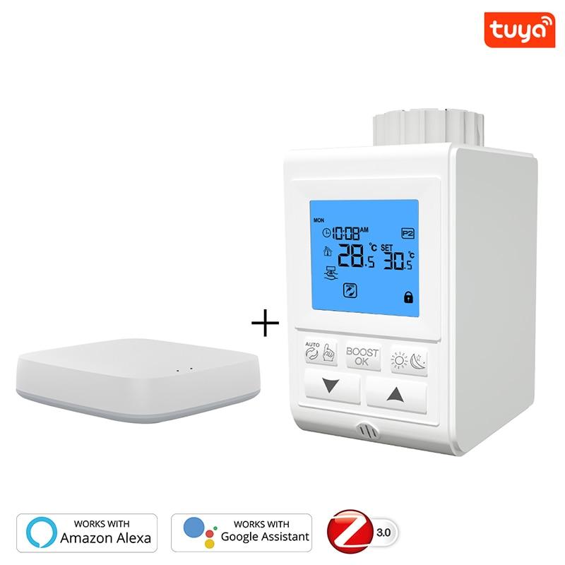 Smart TRV Thermostatic Radiator Valve Controller Zigbee 3.0 Thermostat Heater Temperature Voice Control Work Alexa Google Home