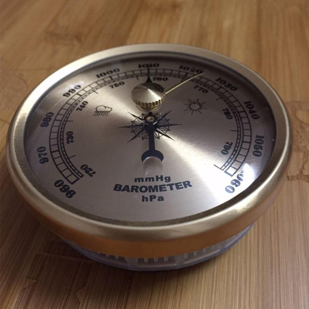 70 мм металлический гигрометр атмосферный Термометр аналоговый манометр портативный домашний барометр настенный атмосферное давление мет...