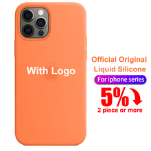 With LOGO Official Silicone Case For Iphone 7 8 6S 6 Plus 12 mini 11 Pro X XS MAX XR SE Phone Case on Apple Iphone 7 X 12 Cover