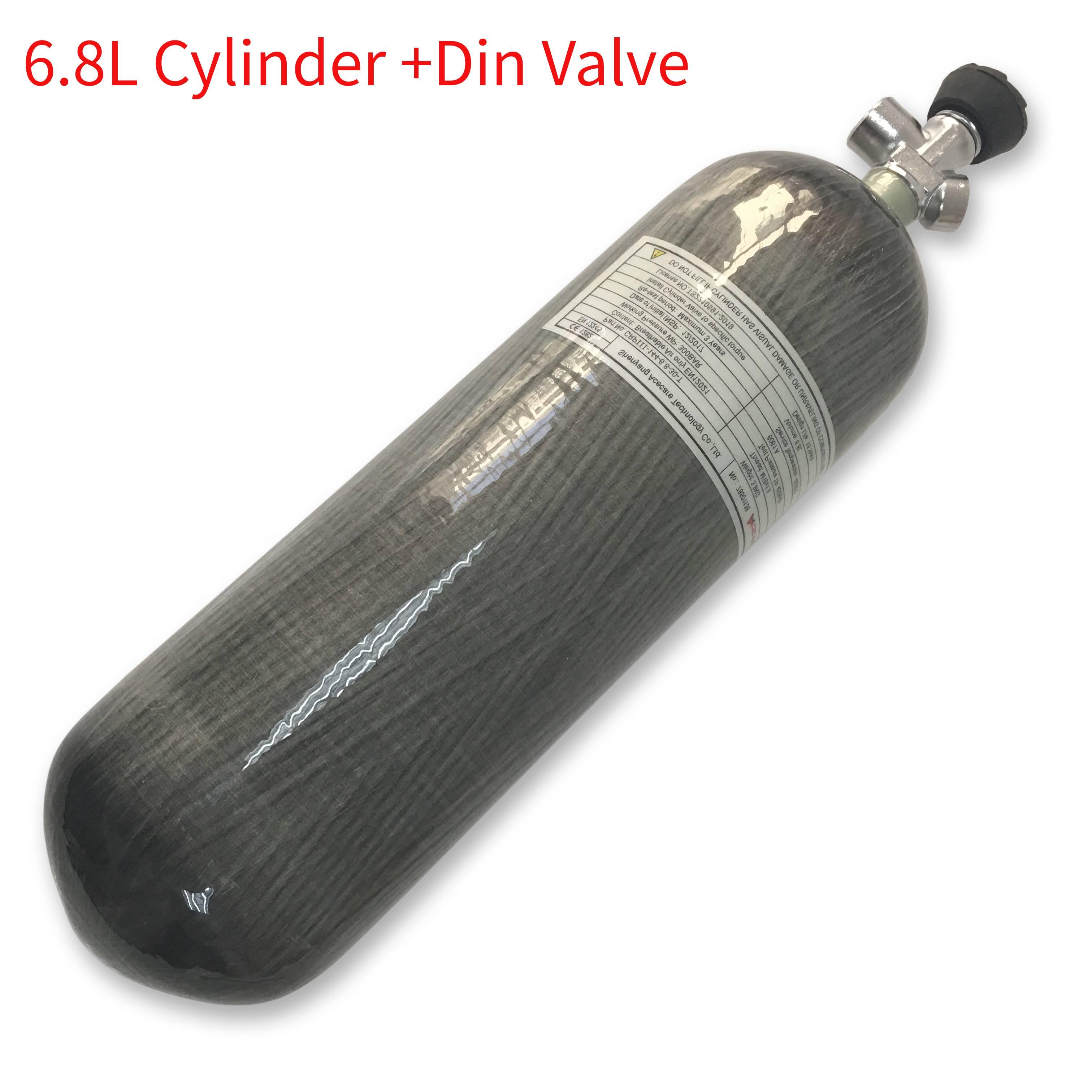 AC16831 High Pressure 6.8L Pcp/Scuba Tank Air Rifle Condor Cylinder Co2 4500 Psi M18*1.5 Carbon Fiber Air Tank Air Rifles 5. 5