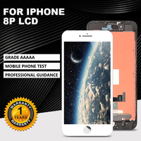 AAAA +++ level LCD display for iPhone 8Plus 'touchscreen digitizer assembly. No dead angle pixels + tempered glass + tools