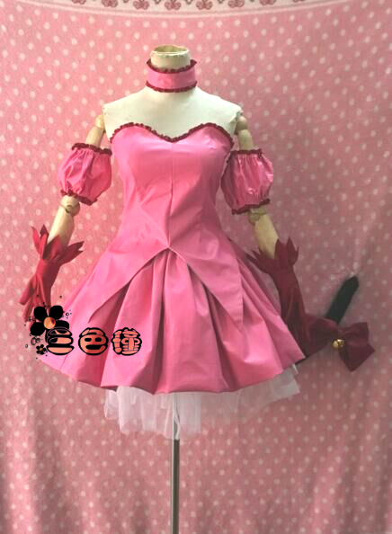 Anime Tokyo Mew Mew Momomiya Ichigo Cosplay Costumes Sexy Pink Shapeshift Dress Role Play Prop Clothing Custom-Make Any Size
