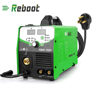 MIG Welder MIG160 AC220V 1KG/5KG Gas/Gasless MIG/Stick/Lift TIG Welder 4 in 1 Flux Core /Solid Wire MIG Inverter Welding Machine nb mig 270315 gas shielded welder power supply plate carbon dioxide welding machine circuit board