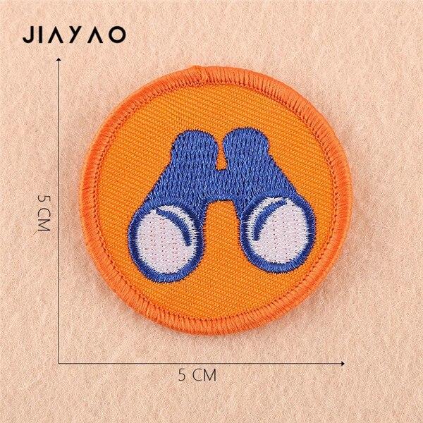 Купить с кэшбэком Cartoon embroidery patch cartoon round boy scout seam badge sewing ironing clothing accessories cloth stickers