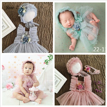 Jane Z Ann Baby girl flower lace outfits studio shooting pretty photography props twins clothing 3 sizes newborn/1 year