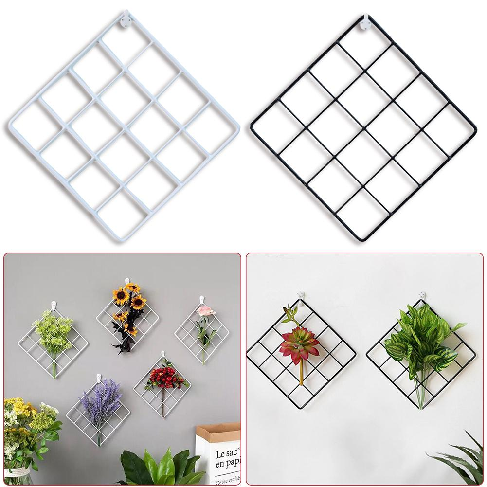 Grid Wall Nordic Minimalist Gridding Wall Decoration Jewelry Organizer Photo Frame Photography Storage Organization Metal Frame