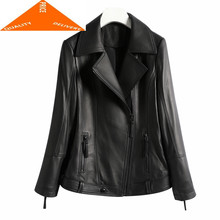 Autumn Genuine Winter Leather Jacket Clothes 2020 Korean Streetwear Real Sheepskin Coat Women Chaqueta Mujer D006(China)