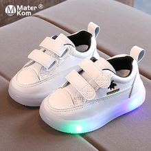 Size 21-30 Girls Non-slip Sneakers Boys Led Wear-resistant Sneakers Children Damping Luminous Shoes Baby Glowing Casual Shoes cheap Mater Kom 13-24m 25-36m CN(Origin) Four Seasons Lighted unisex LED Shoes Rubber Fits true to size take your normal size
