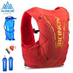 AONIJIE C962 12L гидратационный рюкзак, улучшенный пакет для кожи, жилет, мягкая фляга для водного пузыря для пеших прогулок, бега, марафона
