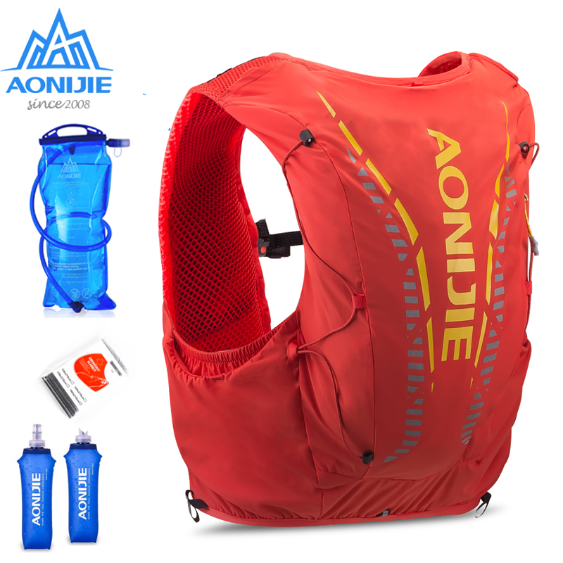 AONIJIE C962 12L Hydration Backpack Advanced Skin  Pack Bag Vest Soft Water Bladder Flask For Hiking Trail Running Marathon Race