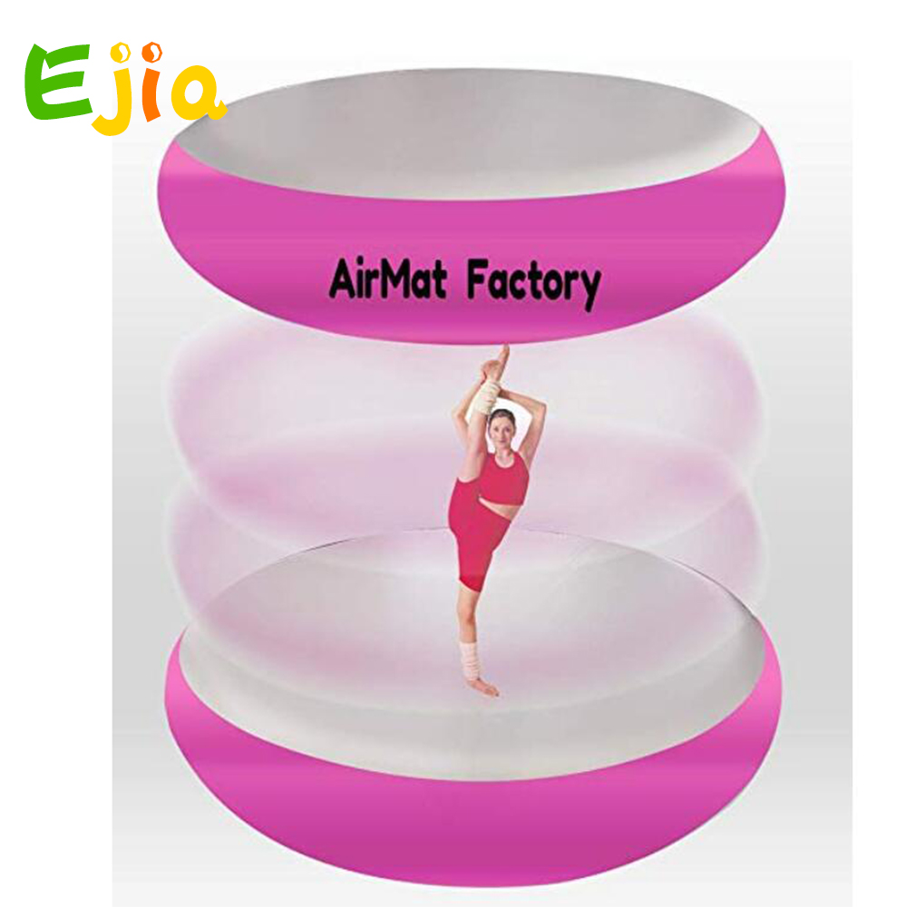 With Foot Pump Inflatable Airspot Gymnastics Airtrack Air Track Air Spot Tumbling Mat Round Mat for Gym, Tumbling and Training