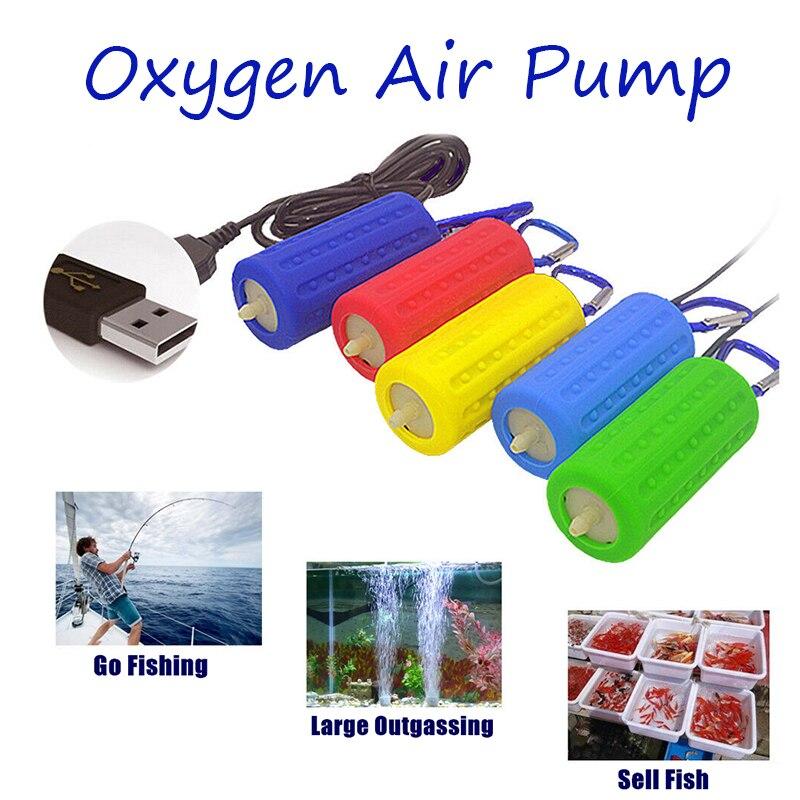 Аквариумный кислородный воздушный насос, портативная Бесшумная мини-помпа с USB, энергосберегающие принадлежности, очень тихий и прочный дл...