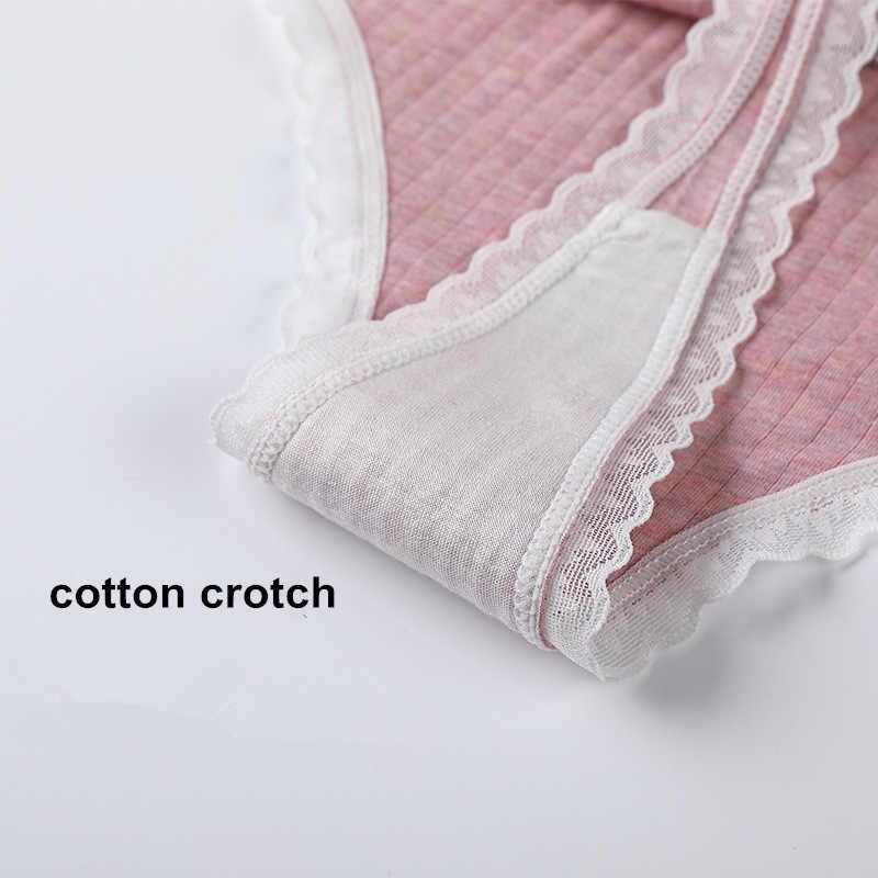 3 adet/takım kadın külot G-string iç çamaşırı moda tanga seksi pamuklu külot bayanlar G-string yumuşak iç çamaşırı katı düşük Rise külot