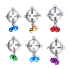 Erotic Accessorie Nipple Clamps Sex Toys  Stainless Steel Breast Stimulator Ring Shield Body Piercing For Women