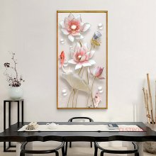 Pink Flower Poster Chinese Style Lotus Canvas Painting Modern Home Decoration Wall Art Pictures For Living Room Bedroom No Frame(China)