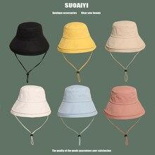 High quality More color Solid Bucket Hat Unisex Bob Caps Hip Hop Men women Summer Panama Cap Beach Sun Fishing fisherman Hat