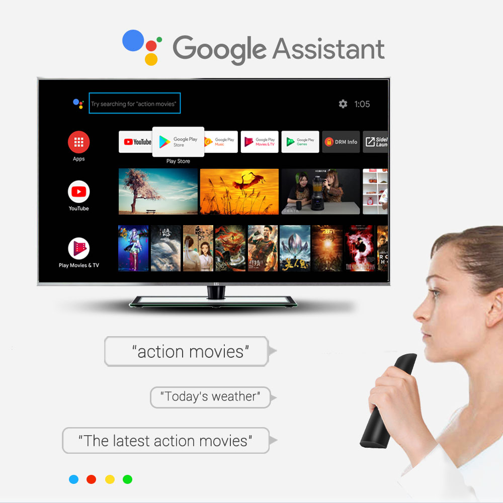 Google certifié Androidtv 9.0 MECOOL KM3 TV Box Android 9.0 4 GB RAM 64 GB 128G Amlogic S905X2 4 K voix 5G Wifi KM9 Pro ATV 2G16G - 3