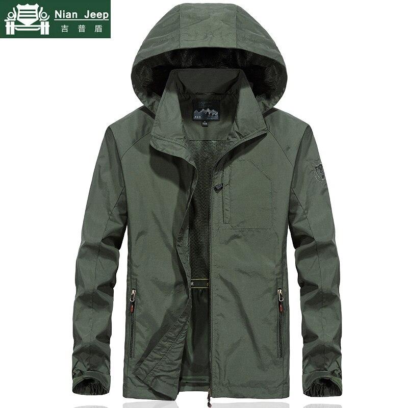 Outwear Waterproof Military Jacket Men Plus Size Spring Autumn Men Windbreaker Quick Dry Mens Jackets Breathable Hooded Coats