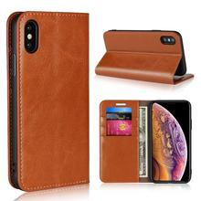 Classic Genuine Leather Cases For iPhone 11 6s 6 7 8 Plus Stand Real Cow Skin Flip Credit Card for Pro Max X XR XS