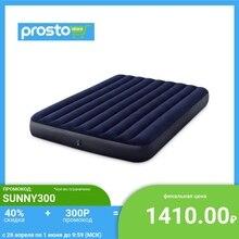 INTEX Кровать надувная Classic downy (Fiber tech) Квин, 1,52м x 2,03м x 25см