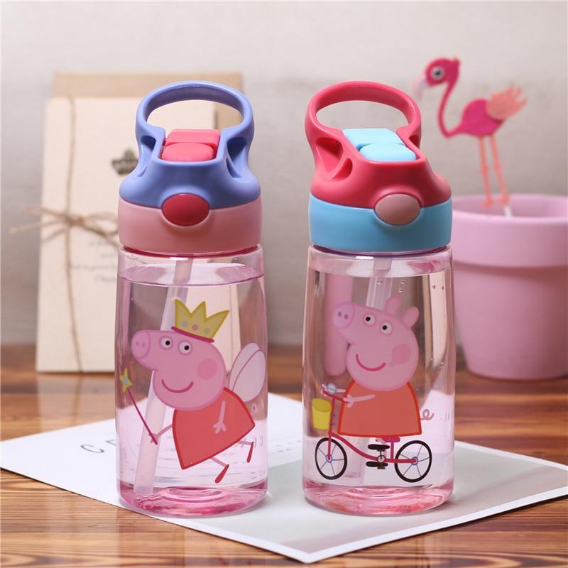 Peppa Pig Feeding Kids Toddler Drink Cups Kindergarten Children Newborn Baby Sippy Cup Cute Cartoon Kettle Drinker Water Toys