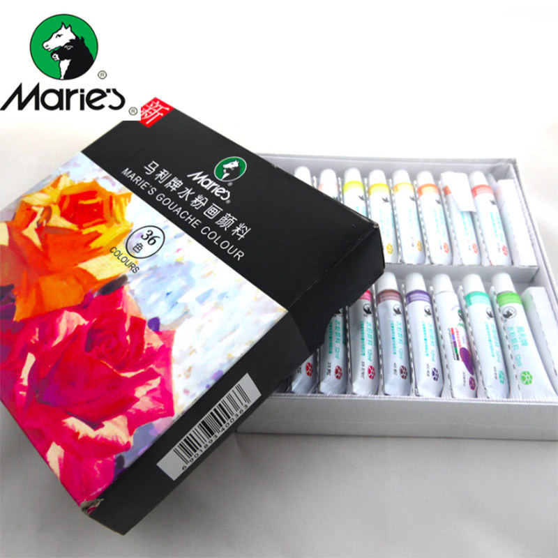 12/18/24/36 Colors Gouache Painting Paint Set High Quality Transparent 12ML Gouache Pigment For Artist School Student