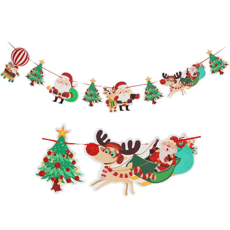 1pcs Merry Christmas Party Decorations Banners 2019 Christmas New Year Party Flags Supplies Garland in Banners Streamers Confetti from Home Garden