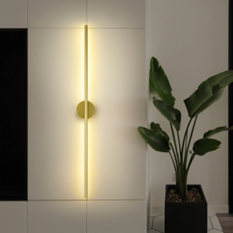 Nordic Strip Wall Lamp  LED Aisle Lighting Fixtures Modern Simple Restaurant Wall Bedroom Bedside Stairs Sconces Decor Luminaria