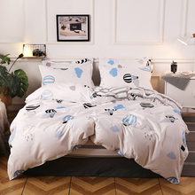 Hot Air Balloon Pattern Duvet Cover 220x240 Pillowcase 3Pcs Quilt Cover 175x220 Bed Cover Double Queen